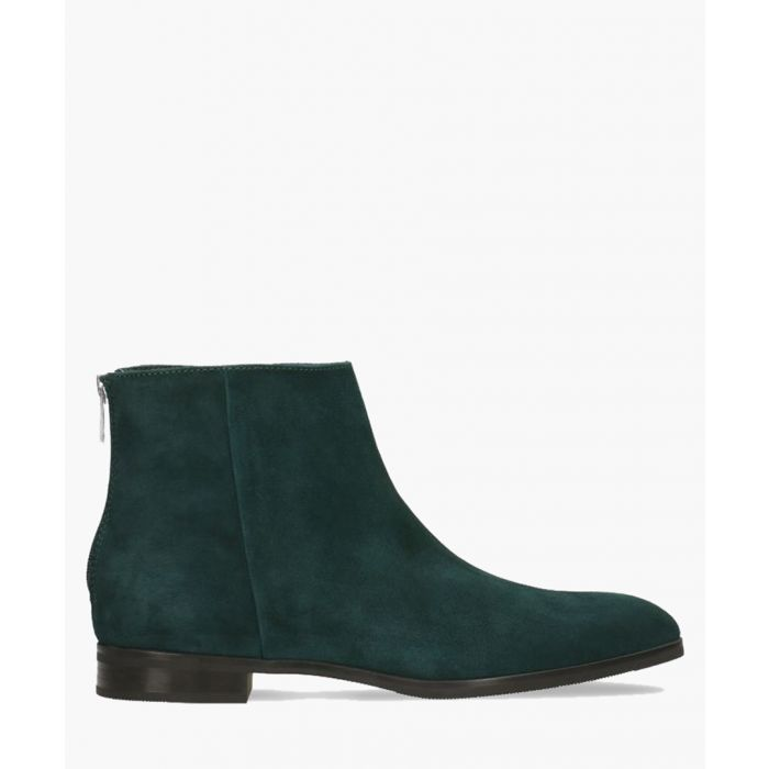Image for Dark green leather ankle boots