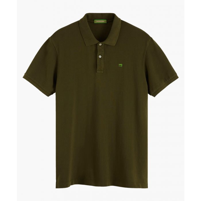Image for Urban green cotton pique polo shirt
