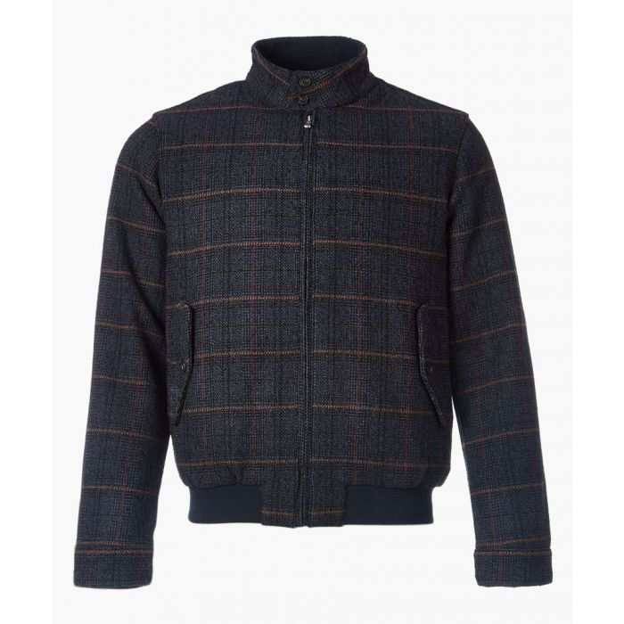 Image for Harrington navy check coat