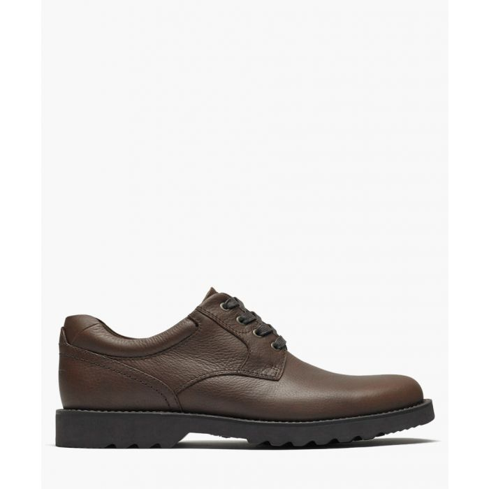 Image for Brown leather lace-up shoes