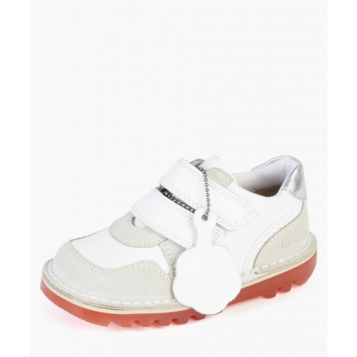 Image for Kids' Glow white leather sneakers