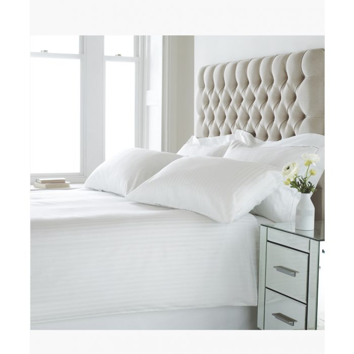 Image for Eton white cotton double duvet set