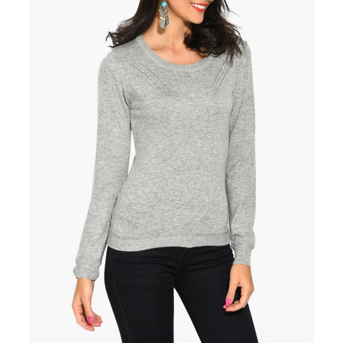 Image for Grey cashmere and silk jumper