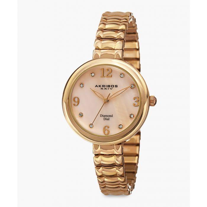 Image for Gold-tone stainless steel and diamond watch