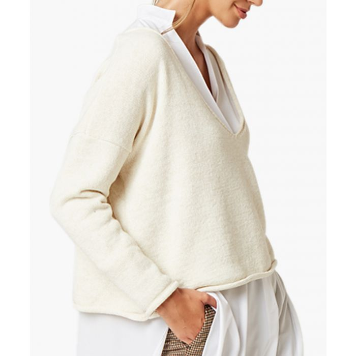 Image for Creamy loose cut jumper