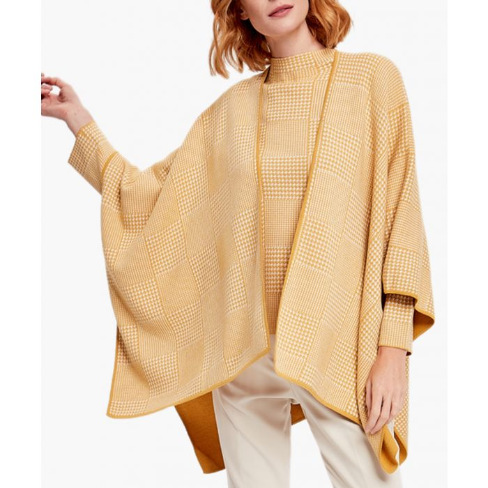 Image for Yellow and white cashmere blend cardigan
