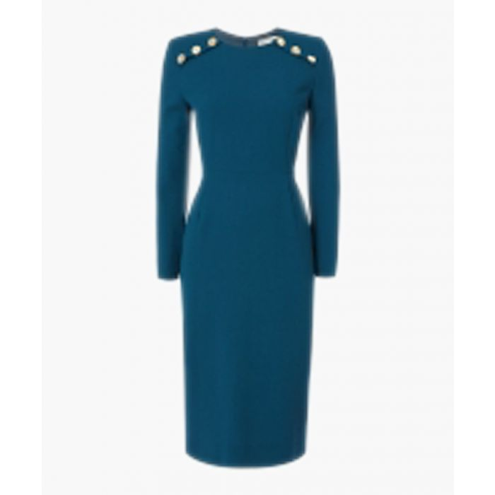 Image for Ivette Pencil Dress With Button Detail