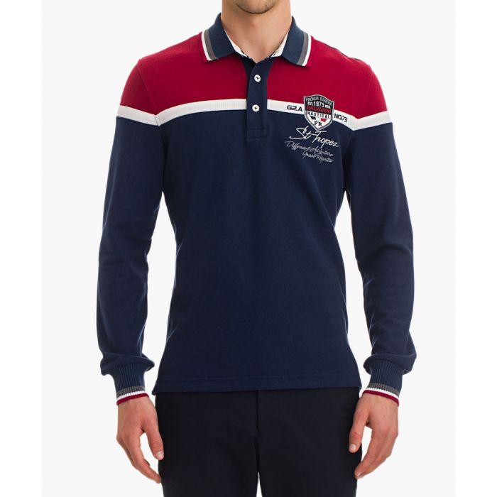 Image for Harua multi-coloured long sleeve polo shirt