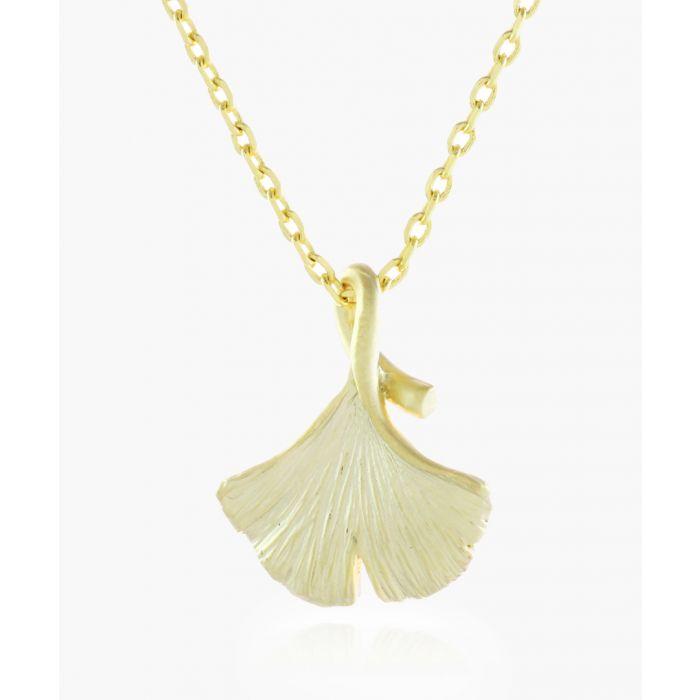 Image for Gingko Leaf 14k gold-plated necklace