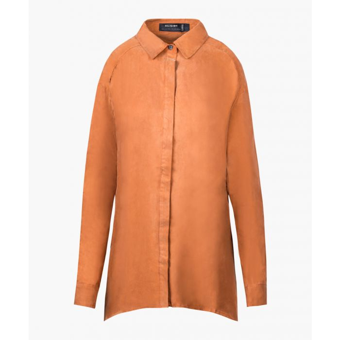 Image for Cathay spice cupro button-up shirt