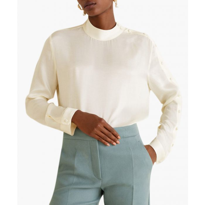 Image for Off-white buttons detail blouse