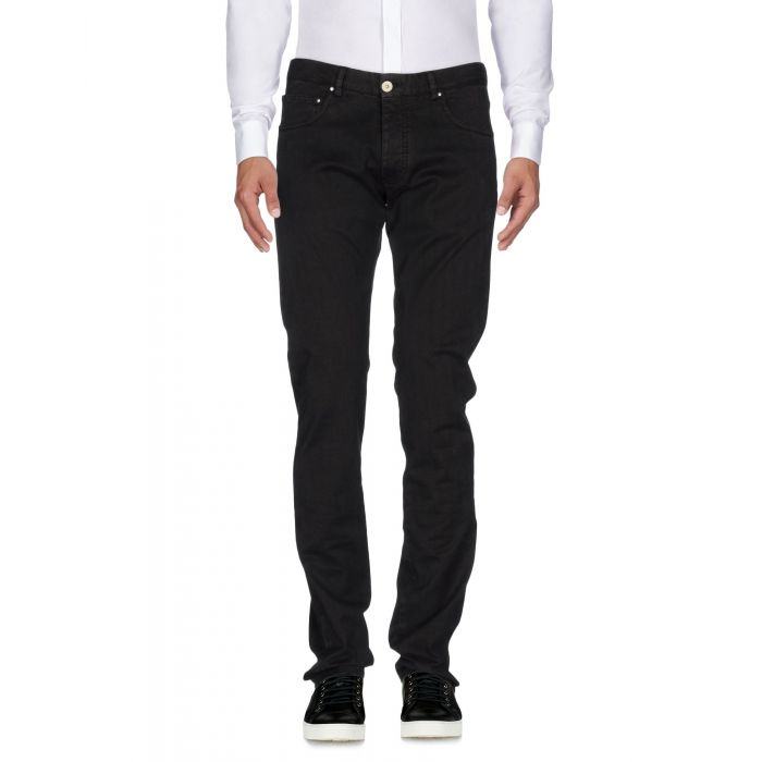 Image for Black mid-rise trousers