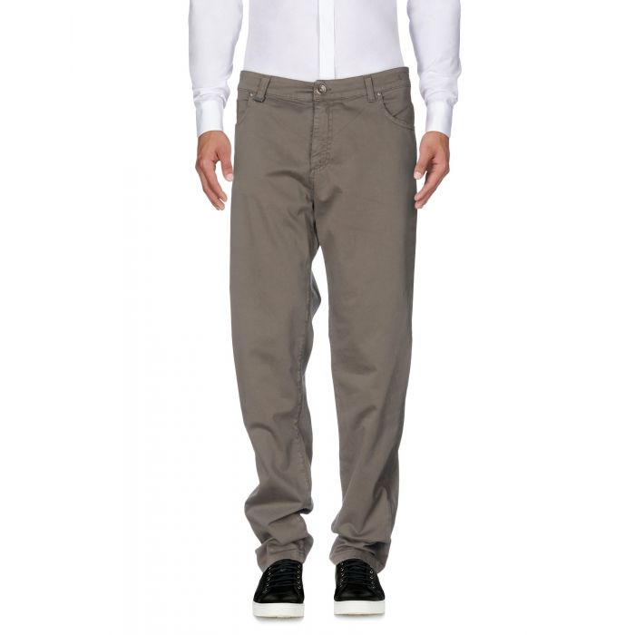 Image for Grey cotton mid-rise trousers