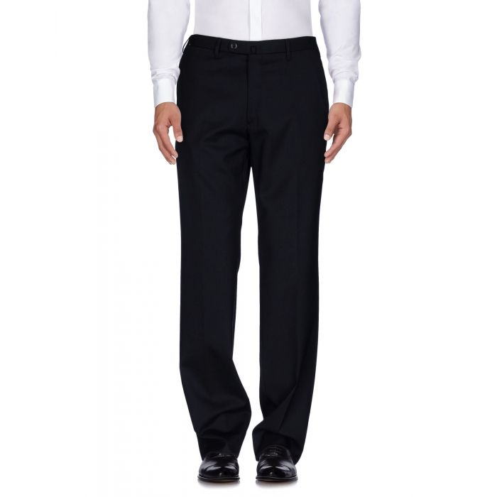 Image for Dark blue wool blend trousers