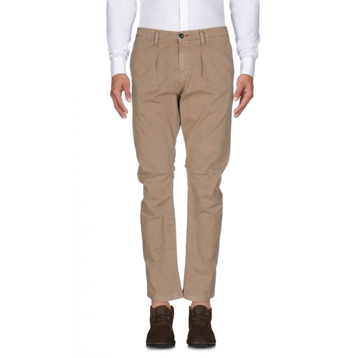 Image for Khaki cotton tapered trousers