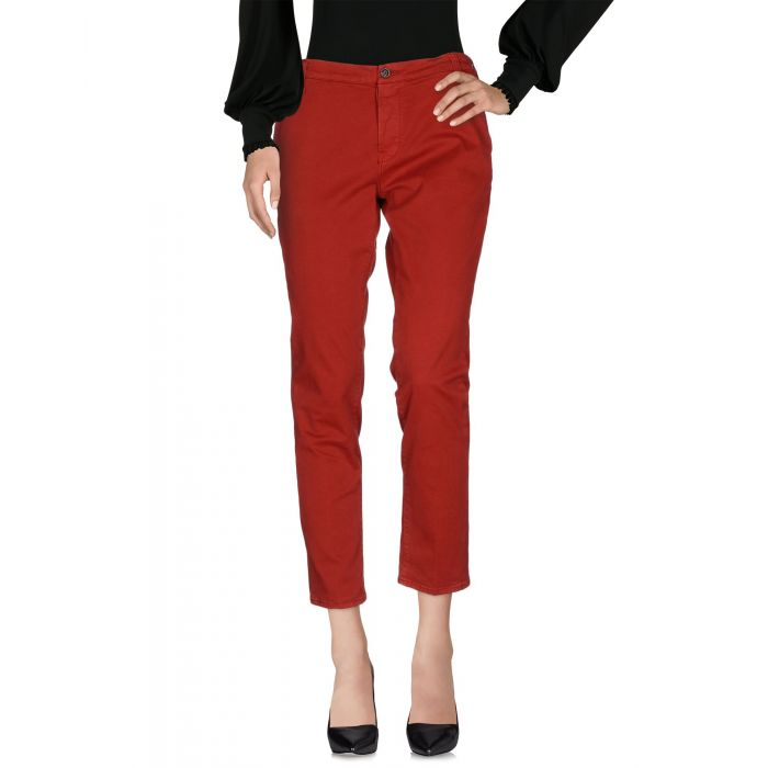 Image for Brick red cotton trousers