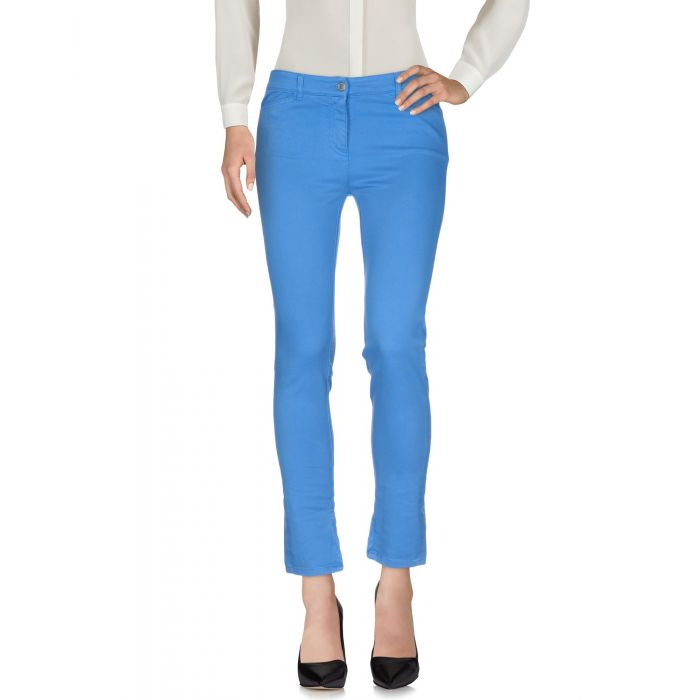 Image for Azure cotton casual trousers