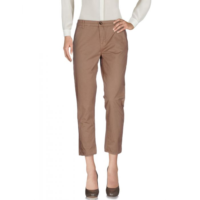 Image for Light brown cotton casual trousers