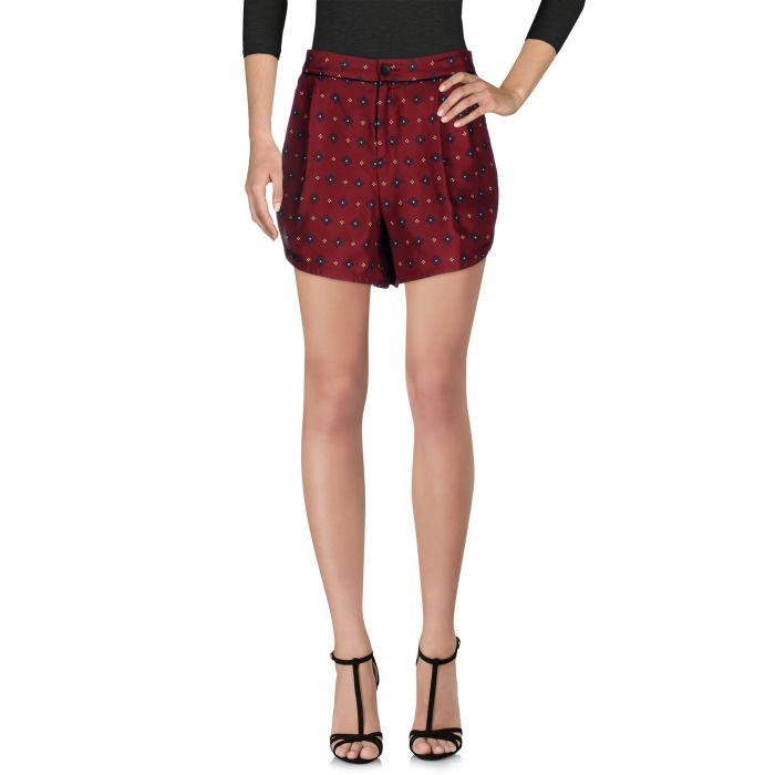 Image for Rag & Bone Maroon Silk Shorts