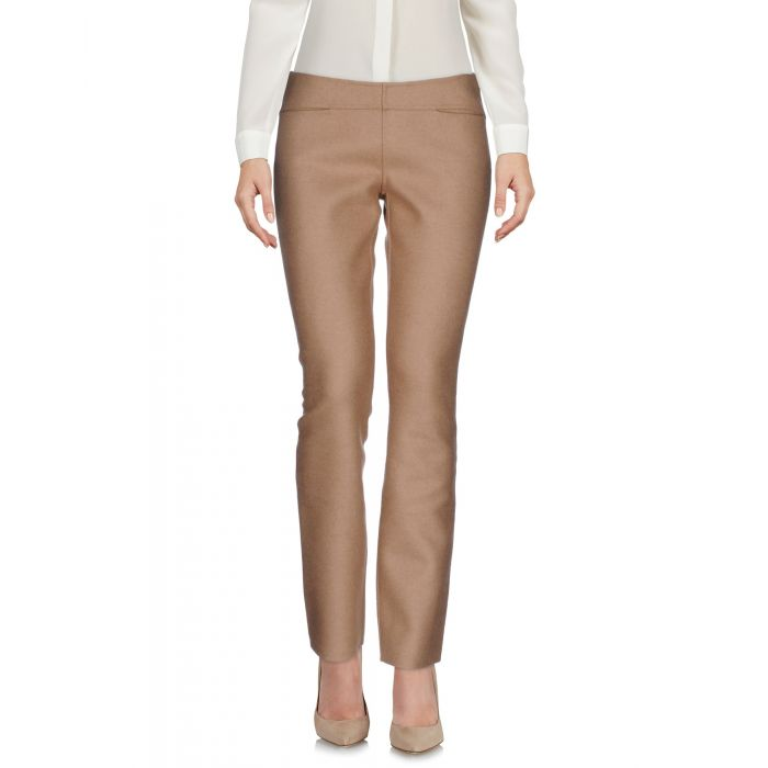 Image for Beigehigh-rise camel hair-wool blend trousers