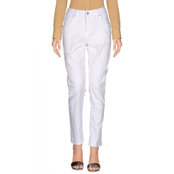 Image for Brian Dales White Cotton Pantaloni