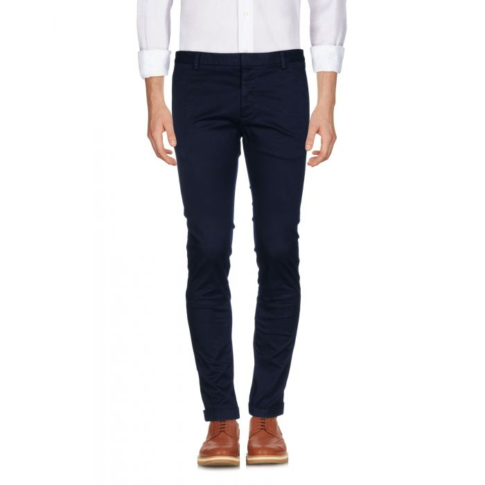 Image for Blue mid-rise stretch-cotton gabardine tapered trousers