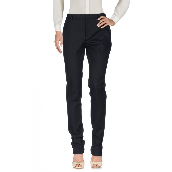 Image for Black wool casual trousers