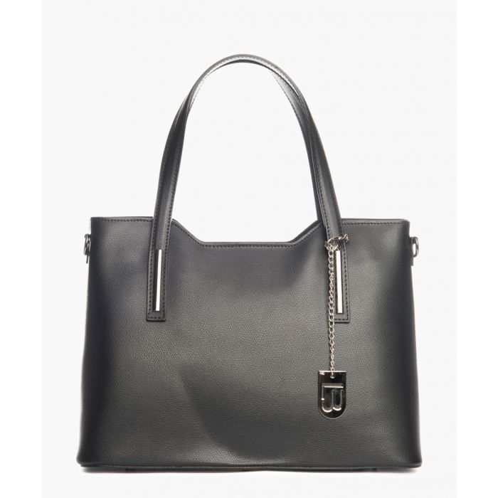 Image for Montecarlo black leather shopper