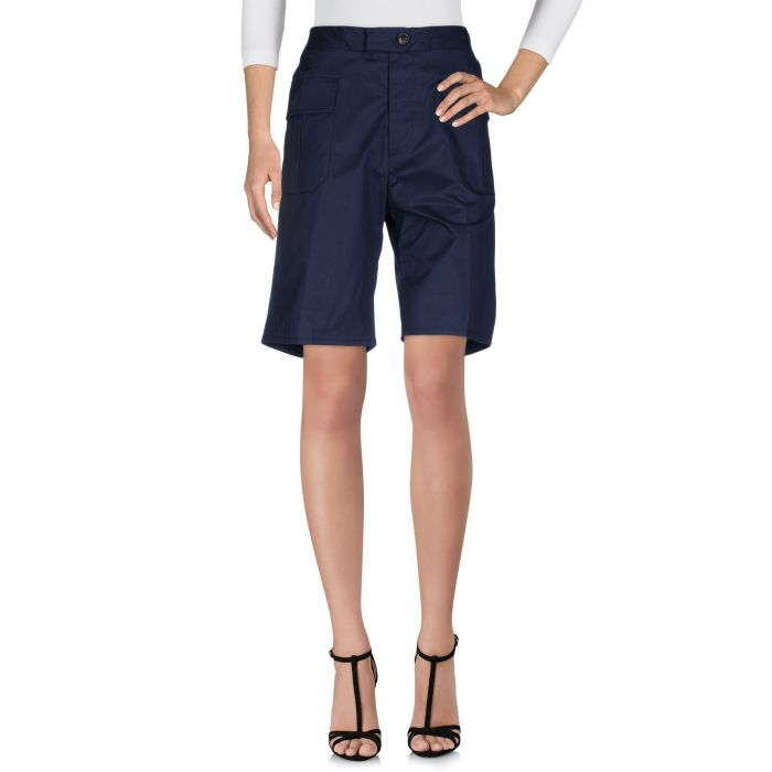 Image for Dark blue sstretch-cotton bermuda short