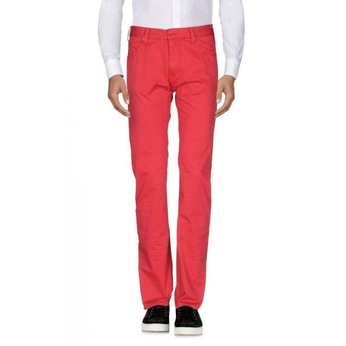 Image for Armani Jeans Red Cotton Pantaloni