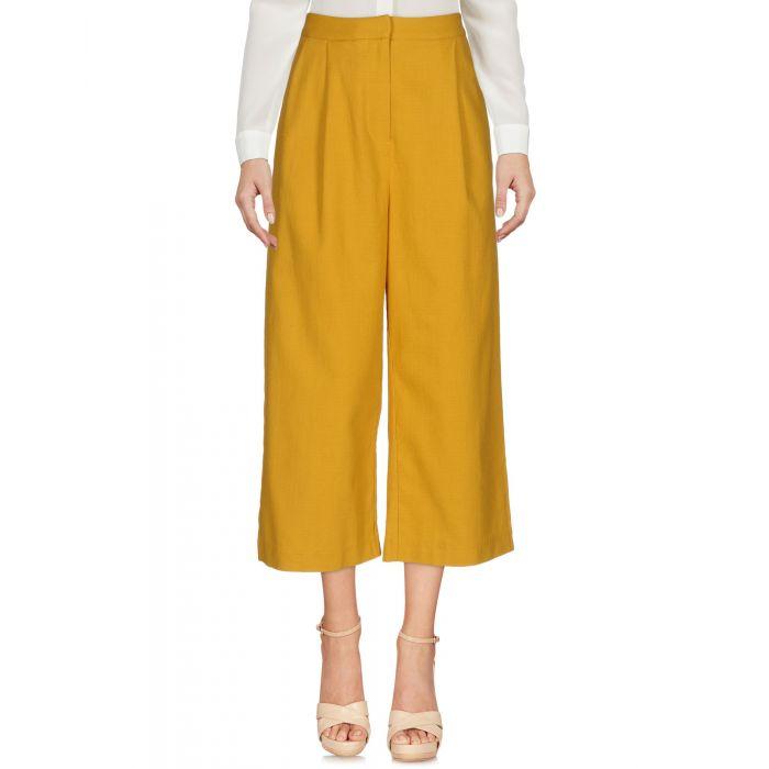 Image for Ty-Lr Ocher Cotton Pantaloni capri