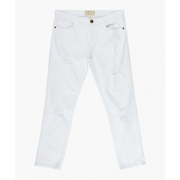 Image for The fling white slim boyfriend jeans