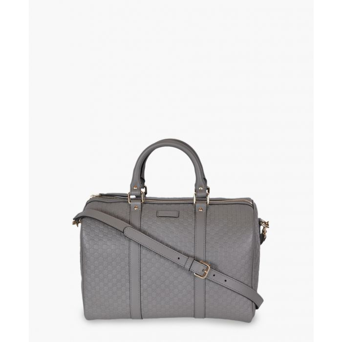 Image for Nice grey Microguccissima leather Boston bag