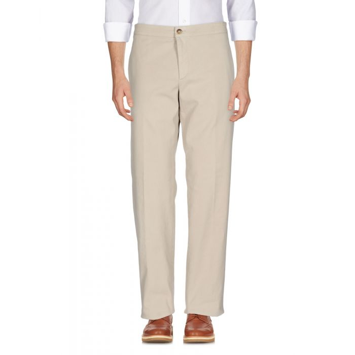 Image for Beige cotton mid-rise trousers