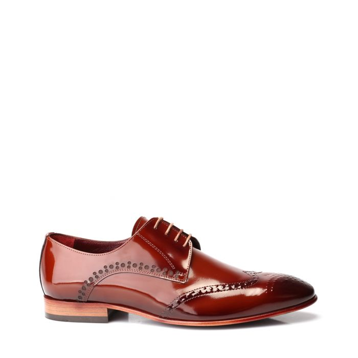 Image for Tobacco patent leather Derby shoes
