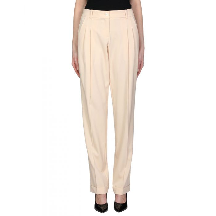 Image for Pale pink wool casual trousers