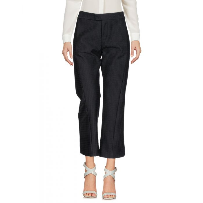 Image for Black cropped trousers