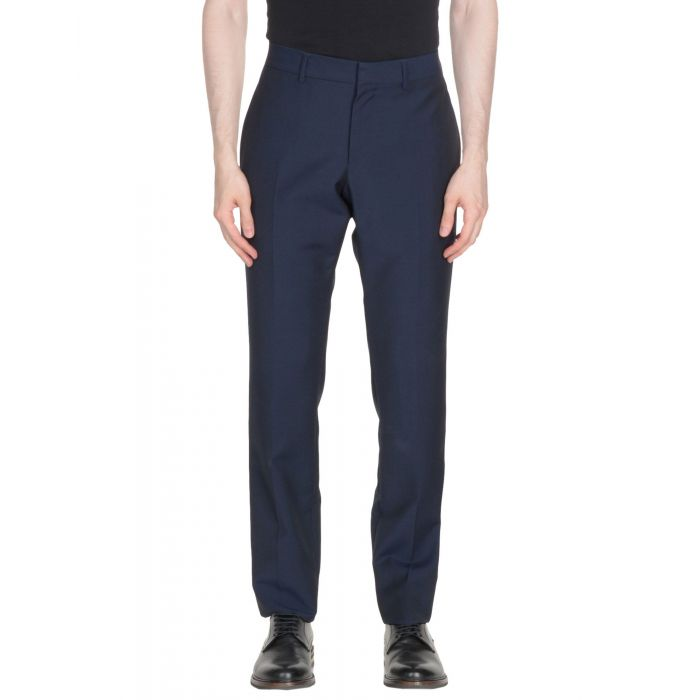 Image for Dark blue wool casual trousers