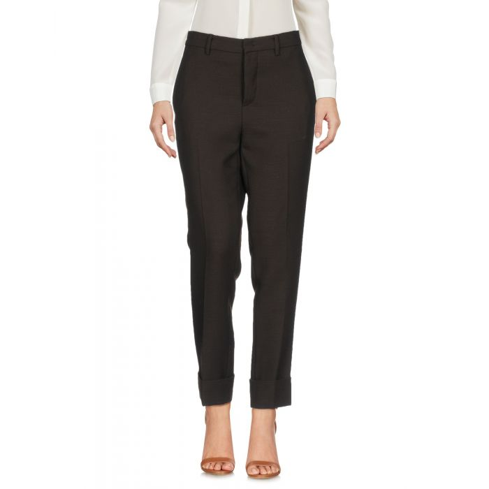 Image for Dark brown wool casual trousers