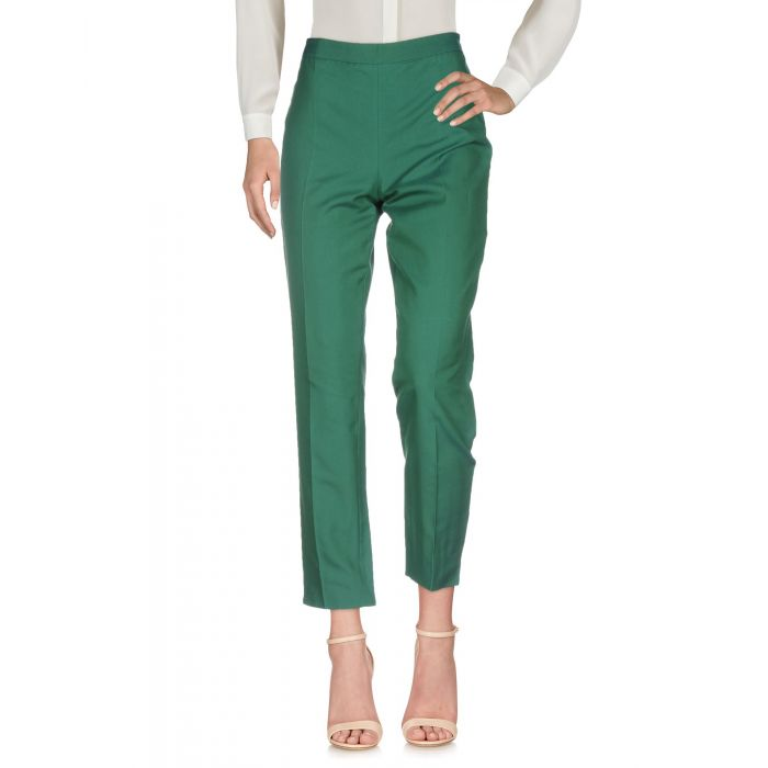 Image for Green cotton casual trousers