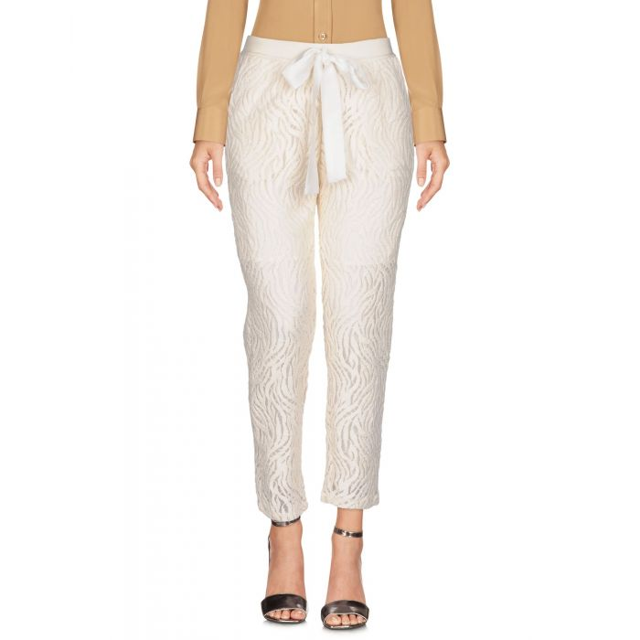 Image for Soho De Luxe Ivory Polyester Pantaloni