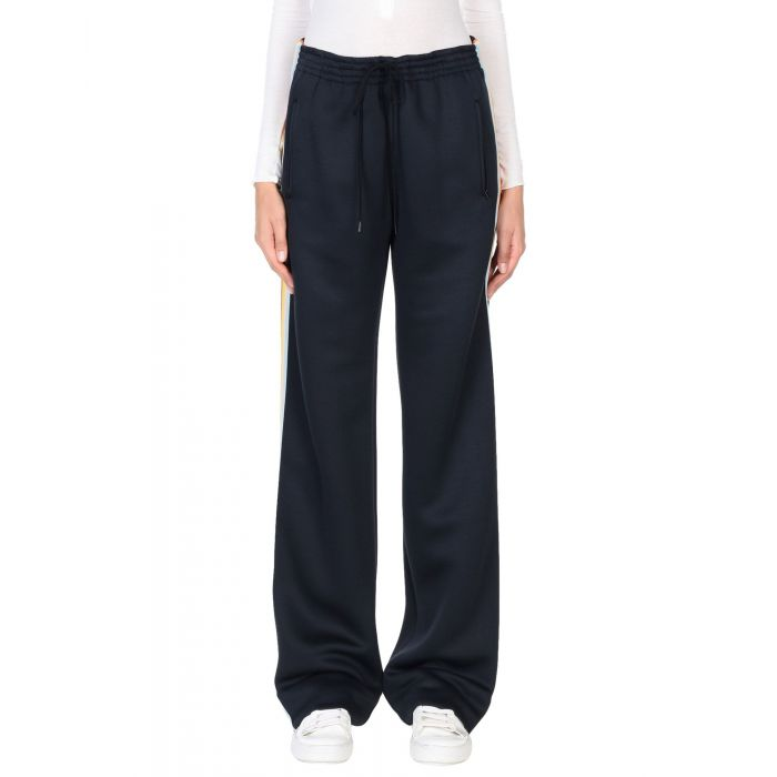 Image for Black silk casual trousers