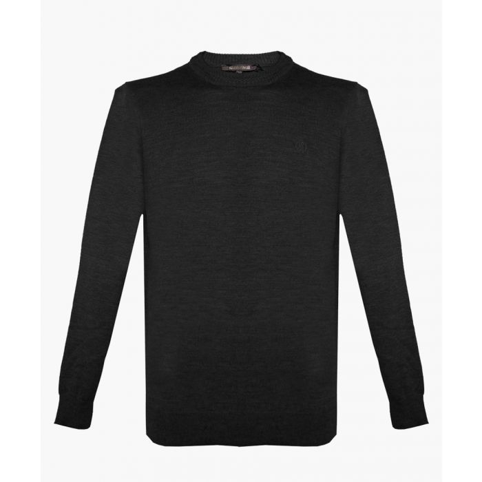 Image for Black pure wool jumper