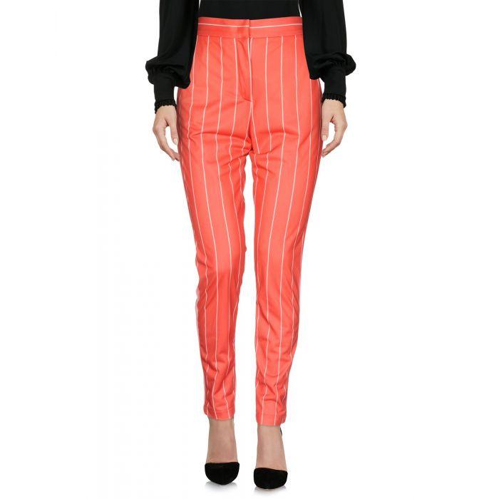 Image for Msgm Orange Polyester Pantaloni