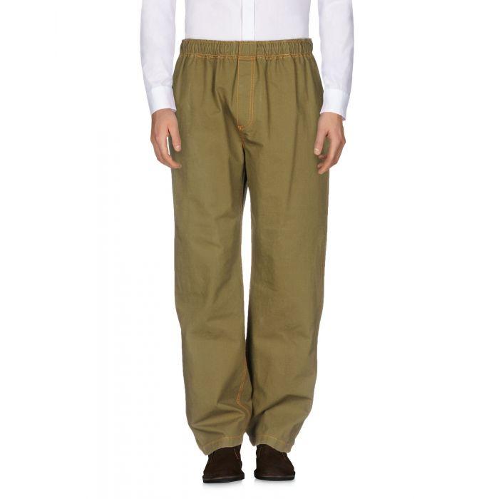 Image for Msgm Military green Cotton Pantaloni