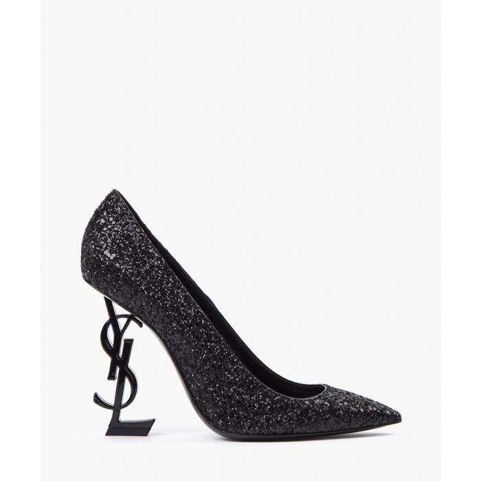 Image for Opyum black glitter pumps