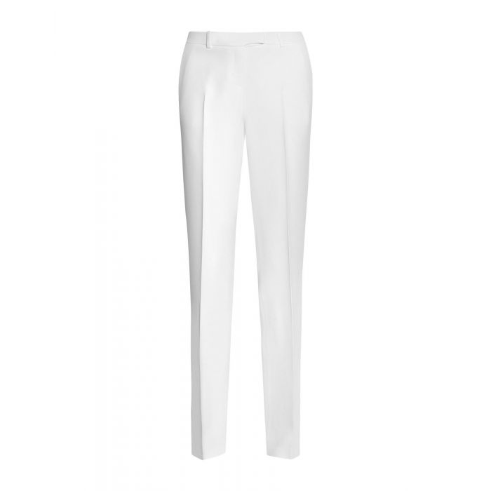 Image for White acetate casual trousers
