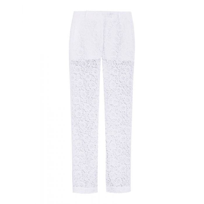 Image for White cotton casual trousers