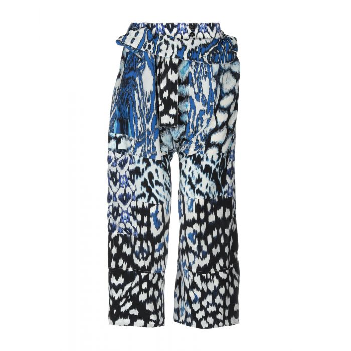 Image for Blue silk casual trousers