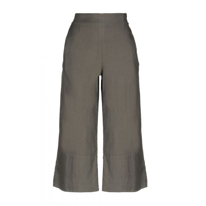 Image for Grey cotton and linen trousers